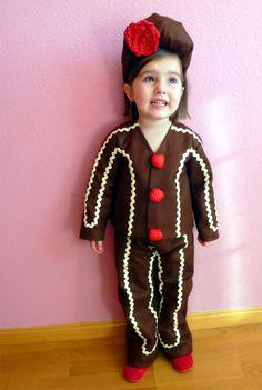 Disfraz de galleta de navidad o galleta de jengibre  Homemade ginger bread  cookie costume 2cc4a9129da