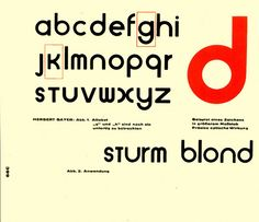 I think that this design is trying to show emphasis to certain letters within the design. This is worked well, keeping the Bauhaus design elements of SIMPLICTIY.