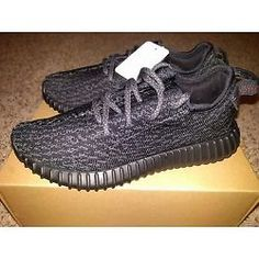 2a740431c96 Adidas x Kanye West Yeezy Pirate Black All 2016 BB5350 RARE Boost 350 Size 6