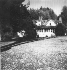 """Blair House,"" reads the caption to this photograph of unknown date depicting the Henry Blair Farm Homeplace, located across from the Boone Golf Club, Boone, NC, built circa 1844."