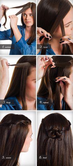 Waterfall Twist Hair Tutorial | Camille Styles