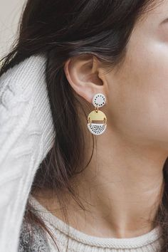 Mimi Small Statement earrings by Malaforma