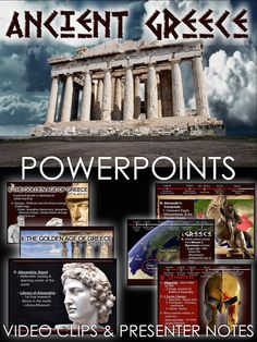 Ancient Greece Powerpoint with video clips and presenter notes covers the rise of Greece, Athens, Sparta and Alexander the Great. This 27 slide Powerpoint includes engaging video clips and presenter notes that aid your understanding of each slide and can act as a cheat sheet for details you may forget.