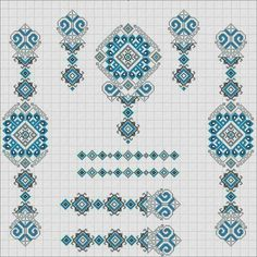 Xmas Cross Stitch, Cross Stitch Borders, Cross Stitching, Floral Embroidery Patterns, Folk Embroidery, Cross Stitch Embroidery, Tunisian Crochet Patterns, Filet Crochet, Palestinian Embroidery