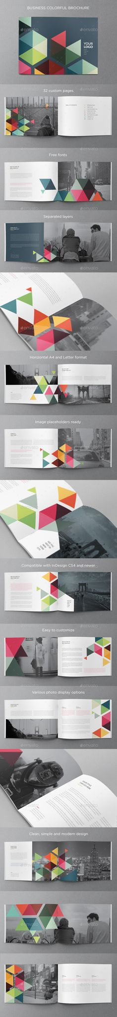 Business Colorful Brochure — InDesign INDD #pattern #letter • Available here → https://graphicriver.net/item/business-colorful-brochure/10859836?ref=pxcr