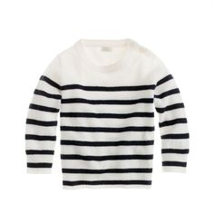 J.Crew Collection cashmere baby sweater in sailor stripe (455 BRL) ❤ liked on Polyvore featuring baby, baby boy, baby girl, children and kid sweaters