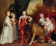 King Charles I and his wife, Henrietta Maria of France; after an original by Anthony van Dyck [above] Their children, Mary, Princess Royal; James Duke of York (later James II); Charles, Duke of. Anthony Van Dyck, Sir Anthony, Roi Charles, King Charles, Charles James, Charles Ii Of England, The Blue Boy, Anton Van, Henrietta Maria