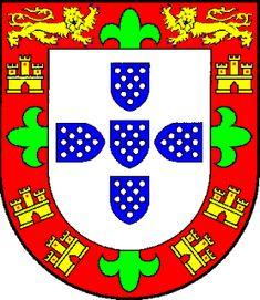 Brasão de Armas de D. Fernando (Santo) Infante de Portugal (1402-1443) Escudo de prata com cinco escudetes de azul carregados com onze besantes do primeiro (Portugal); bordadura de vermelho com castelos de ouro abertos do mesmo (Castela), sobre esta uma cruz florenciada de verde cosida. Como diferença dos seus irmãos, os da ínclita geração, usou dois leopardos de ouro afrontados, armados e lampassado de azul no lugar dos castelos do chefe. Morreu em Fez cativo - Heráldica Real Portuguesa