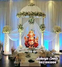 Flower Decoration For Ganpati, Ganpati Decoration Design, Flower Decorations, Table Decorations, Ganesh Chaturthi Decoration, Happy Ganesh Chaturthi Images, Ganesha Pictures, Ganesh Images, Ganapati Decoration