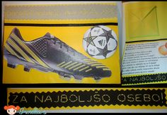 Soccer shoe birtday card.