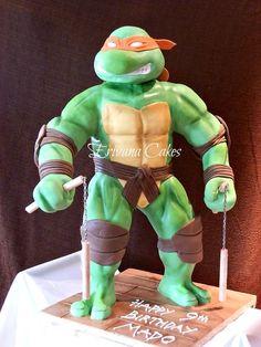3-D Ninja Turtles cake