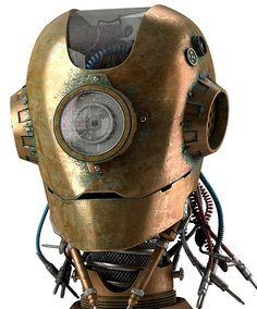 vintage robot head 2 (via AdWeek CGI rendering by ad agency Publicis for client Boa Vista on Obsolete business robots) Robots Vintage, Retro Robot, Diesel Punk, Robots Steampunk, Sculpture Metal, Robots Characters, Arte Cyberpunk, Robot Design, Retro Futurism