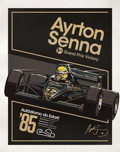 Ayrton Senna Posters Celebrate the Master's Triumphs