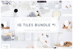 Instagram Tiles Bundle #1 -  Tiles make your Instagram feed unique, amazing and marvelous. Using tiles in your Instagram is best way to attract attention to your feed. Before now it was very difficult to make tiles. It took a lot of time and energy. $15 #ad #creativemarket