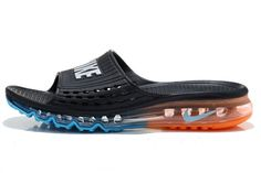 2015 Nike Air Max Flip Flop for men in Black Orange Turquoise