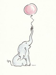Kinda want a baby elephant tat with a bday hat and balloon