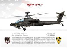 """""""Longbow Apache"""" Reference: Condition: New product United States Army Bravo Company, Attack Reconnaissance Battalion, Combat Aviation Brigade Illesheim, Germany Helicopter Plane, Attack Helicopter, Military Helicopter, Military Aircraft, Helicopter Pilots, Airplane Fighter, Fighter Aircraft, Fighter Jets, Military Weapons"""