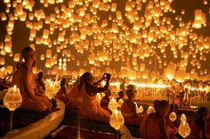 Floating Lantern Festival - Thailand