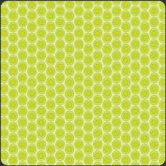 Pat Bravo - Oval Elements - Oval Elements in Green Apple. This pattern comes in lots of great colors that match many other quilting/sewing cottons.