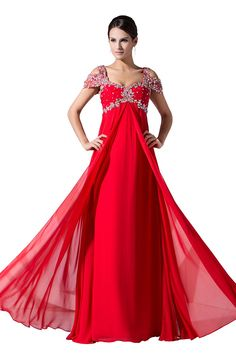 Dressystar Women's Flowy Chiffon Prom Formal Dresses with Sparkling Beaded Straps >>> Awesome product. Click the image : formal dresses
