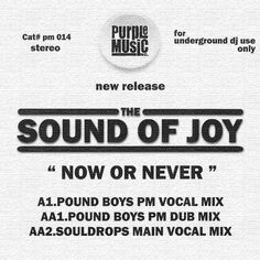 Sound of Joy is a house tune with a NY garage feel on Purple Music. The Main Vocal Mix comes from Roberto De Carlo and Dario D'Attis. P+C 2003 Purple Music House Music, Never, Joy, Feelings, Purple, Musik, Glee, Being Happy, Viola