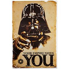ThinkGeek :: Star Wars The Empire Needs You Poster