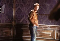 From queen of my heart video Before he savede his beautiful hair off Nicky Byrne, He's Beautiful, Leather Jacket, Jackets, Icons, Queen, Heart, Fashion, Studded Leather Jacket
