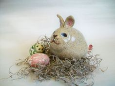 Bunny Bank - Easter -  Handmade on the Potters Wheel - Ready to Ship -- #4