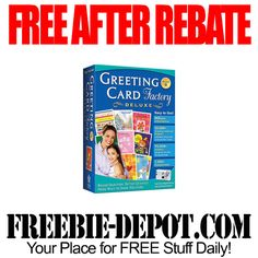 FREE AFTER REBATE – Greeting Card Factory Deluxe – FREE Greeting Card Making Software – FREE Computer Program for Making Your Own Christmas Cards - Exp 11/6/14