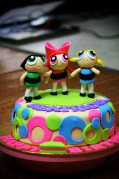 Rizq Cakes - a journey of a loving couple in making beautiful cakes...: powerpuff girl fondant cake