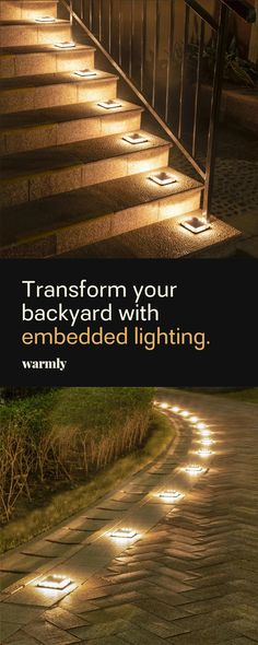 Outdoors Discover Calandra - LED Solar Ground Embedded Light Transform your backyard with solar-powered lights from Warmly Backyard Patio Designs, Front Yard Landscaping, Landscaping Ideas, Diy Backyard Projects, Backyard Landscape Design, Backyard Gates, Front Yard Decor, Landscape Edging, Landscaping Supplies