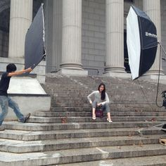 Liu Wen on the set of the Coach Fall 2013 campaign shoot in New York City #CoachNewYorkStories