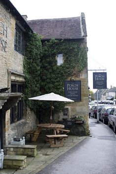 The Porch House, Stow-on-the-Wold. The Places Youll Go, Places To Go, Pubs And Restaurants, England And Scotland, Britain, Porch, Pergola, Outdoor Structures, British Isles