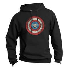 Captain America Fleece - Distressed/Dotted Logo | Jack of All Trades Clothing