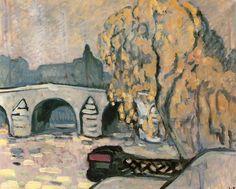 "dappledwithshadow: "" The Seine at Paris Louis Valtat - 1910 "" St Raphael, Martin Johnson, Paris Painting, Pierre Bonnard, Summer Landscape, Modern Artists, Henri Matisse, Renoir, Printmaking"
