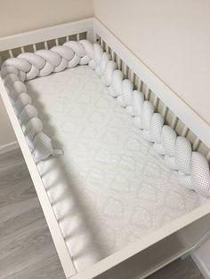 Items similar to Braided Crib Bumper - Crib Bumper, Nursery Decor, Baby Bedding, Handmade, Baby Shower Gift on Etsy