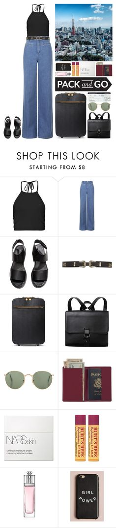 """""""Tokyo Bound."""" by noemiecalot ❤ liked on Polyvore featuring Boohoo, Topshop, H&M, River Island, STELLA McCARTNEY, Monki, Royce Leather, NARS Cosmetics, Burt's Bees and Christian Dior"""