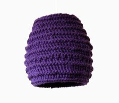 Hand Knit Lampshade PLUM / Multifunction: Pendant & Standing Light  / Unique Knitted Home Decor
