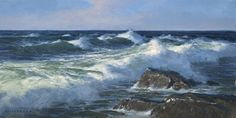 The Paintings of Donald Demers  Rising Tide 8x16 - oil