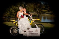 Dirt bike wedding picture