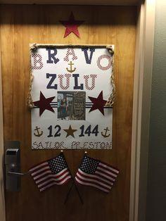 Hotel Door Decoration For Navy Boot Camp Graduation Navy
