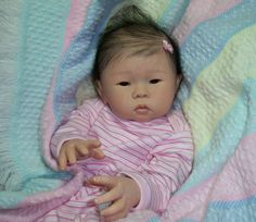 Asian Reborn Baby Dolls | Details about Reborn Asian Baby Girl~Mae~Sandy Faber Doll