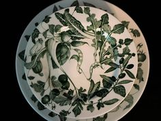 Vintage Dishware La Primula Vegetables Pattern Six Salad and
