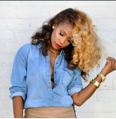 This color and Curls are on fleek!