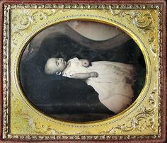 19th century American Daguerreotype: Dead Baby on a Sofa    http://www.flickriver.com/photos/20939975@N04/tags/daguerreotype/