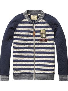 Quilted Varsity Jacket | Inbetween jackets | Boys Clothing at Scotch & Soda