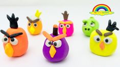 Learn Colors with Play Doh angry bird clay molds Clay Molds, Learning Colors, Play Doh, Angry Birds, Number, Christmas Ornaments, Toys, Holiday Decor, Home Decor