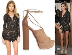 Hailey Baldwin's Alexis Ramzes Scalloped Romper