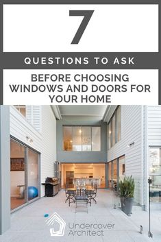 In understanding how to choose the right windows and doors for your home, we need to be aware of all their different functions. Answer these 7 questions. Outdoor Living Areas, Outdoor Rooms, Outdoor Showers, Best Windows, Windows And Doors, Window Design, Door Design, Home Command Station, Exterior Doors