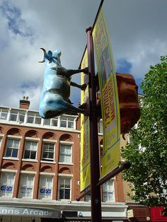Cow Parade St Ann's Square - Cow Signs by Scoobymoo, via Flickr